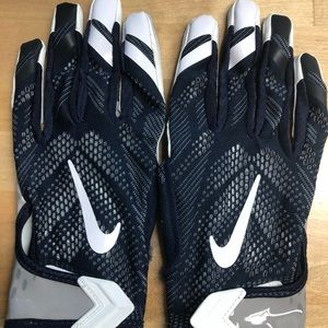 Nike VAPOR KNIT PE Receiver Gloves BLUE/GRAY WR